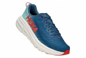 Chaussures de Running Hoka One One Rincon3 Large 2E Bleu / Rouge