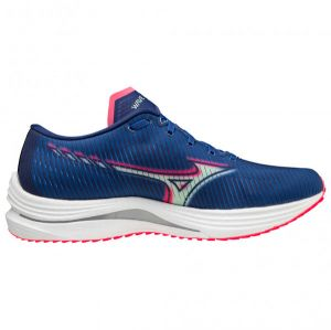 Mizuno - Wave Rebellion - Chaussures de running taille 47, bleu/gris